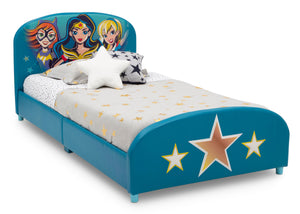 Delta Children DC Superhero Girls Upholstered Twin Bed Super Hero Girls (1205), Right Silo View