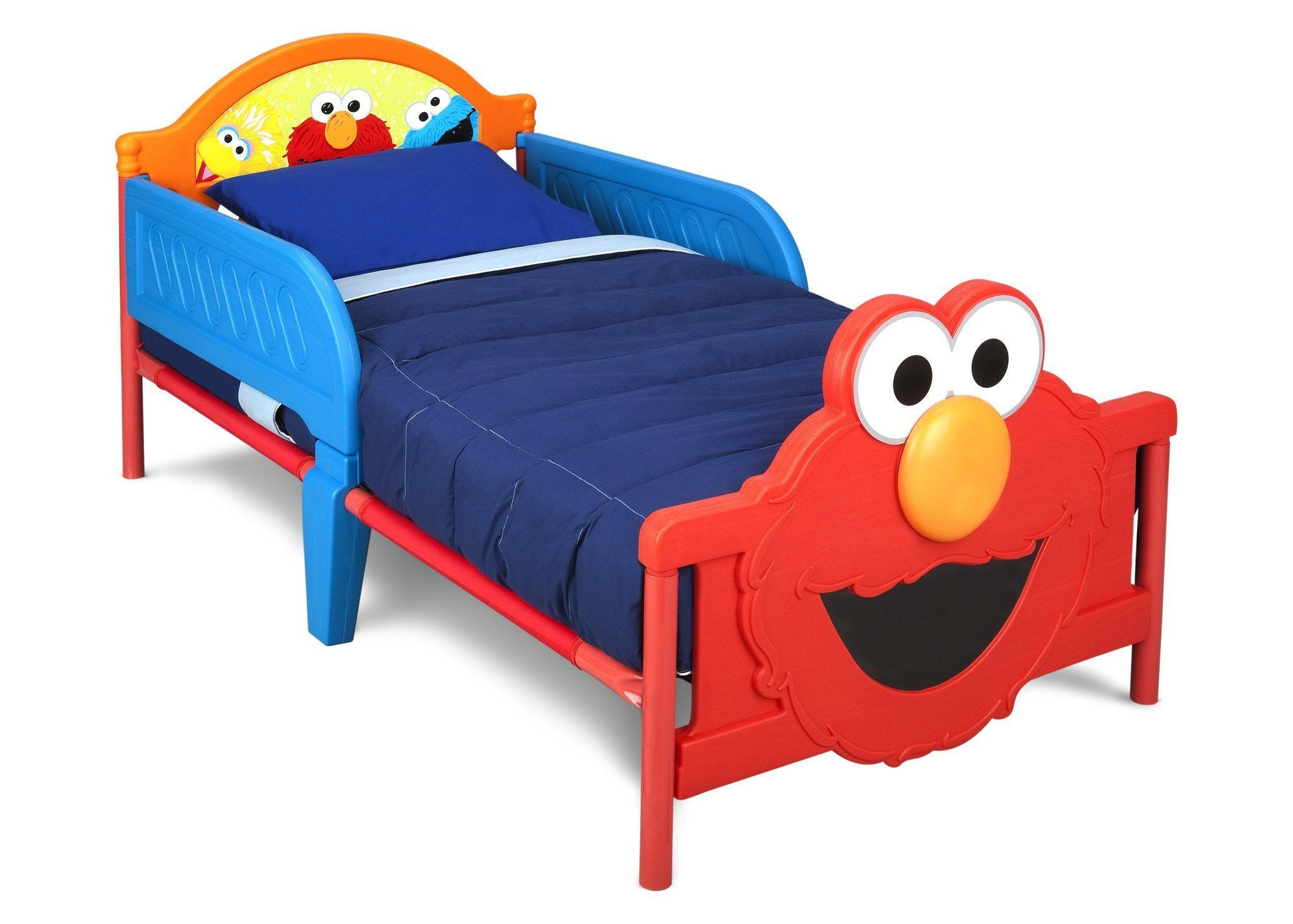 Merveilleux Delta Children Elmo Toddler Bed With 3D Footboard Right Side View A1a ...