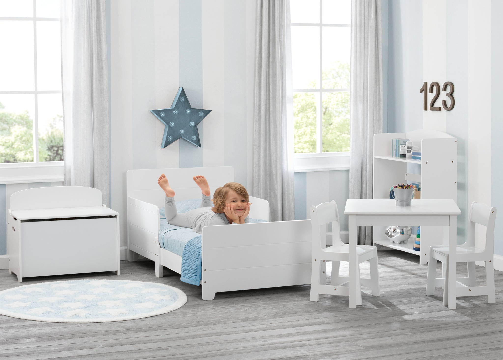 Delta Children Bianca White (130) MySize Toddler Bed, Room View