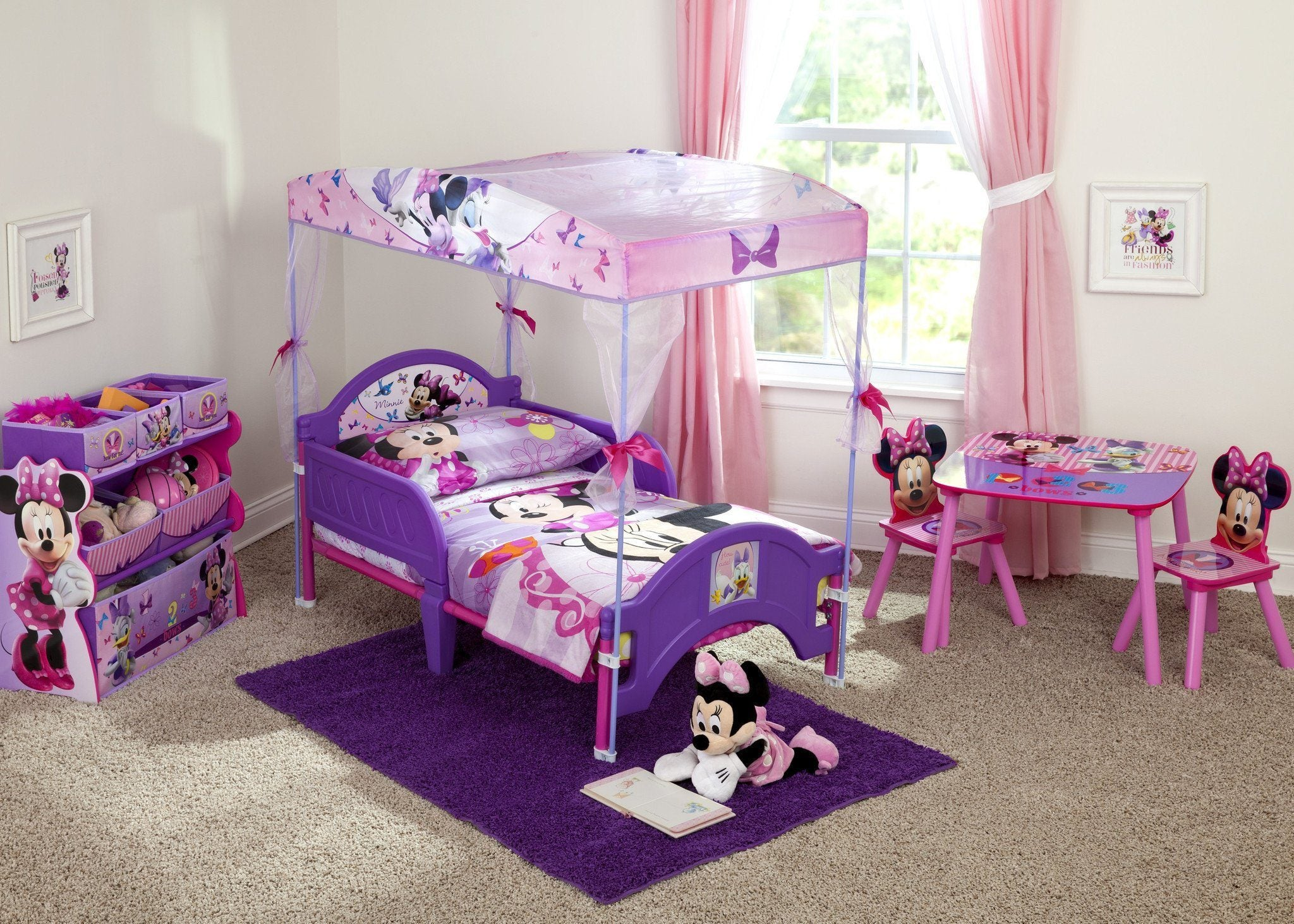 - Minnie Mouse Toddler Canopy Bed – Delta Children