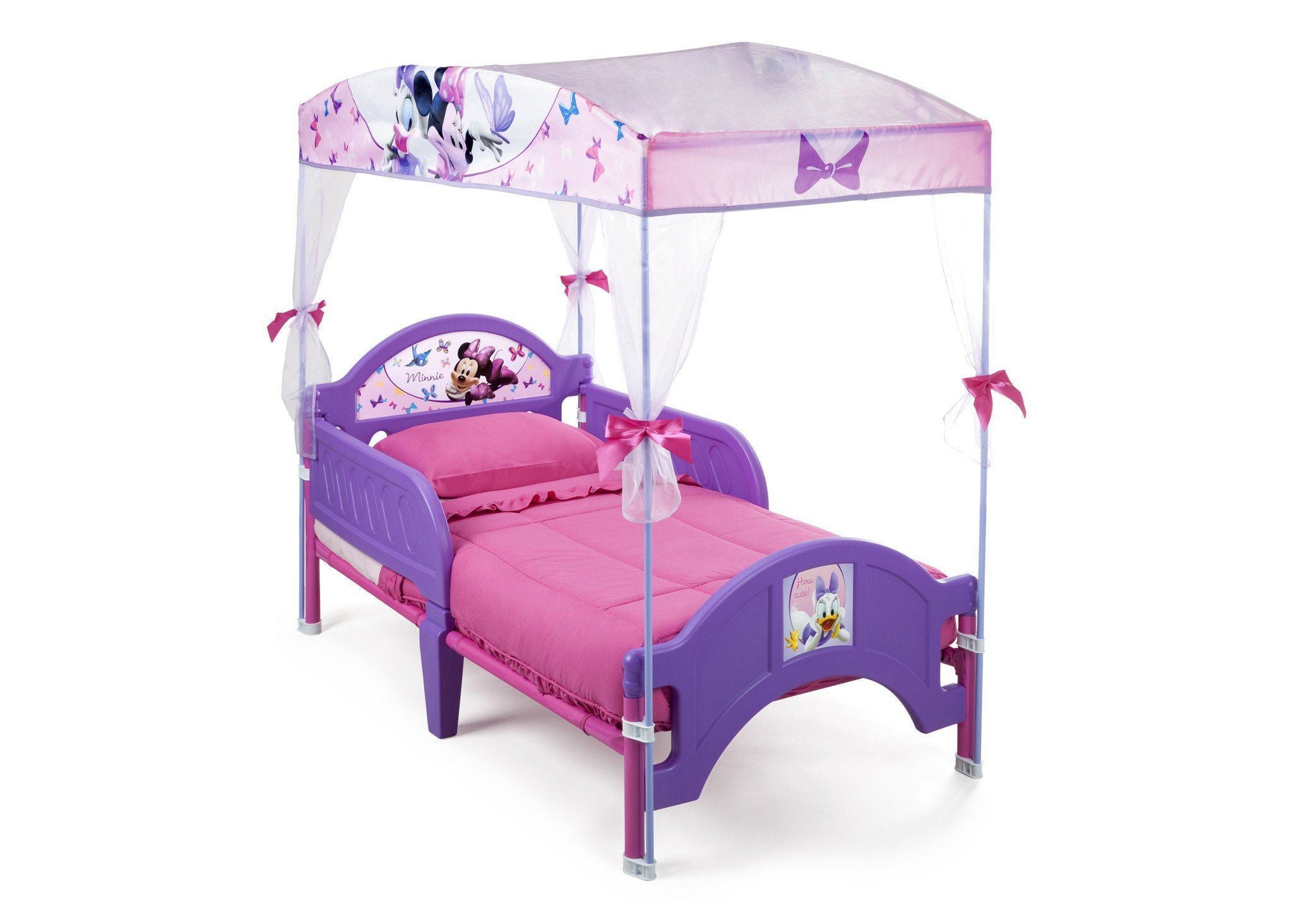 kids bed side view. Exellent Side Delta Children Minnie Mouse Canopy Bed Purple U0026 Pink Right Side View A1a   And Kids Bed T
