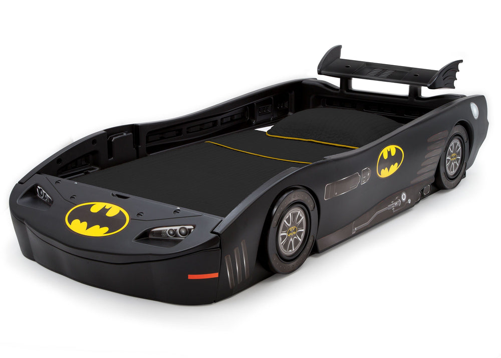 Delta Children DC Comics Batmobile (Batman)(1200) Twin Bed, Left Angle, a3a