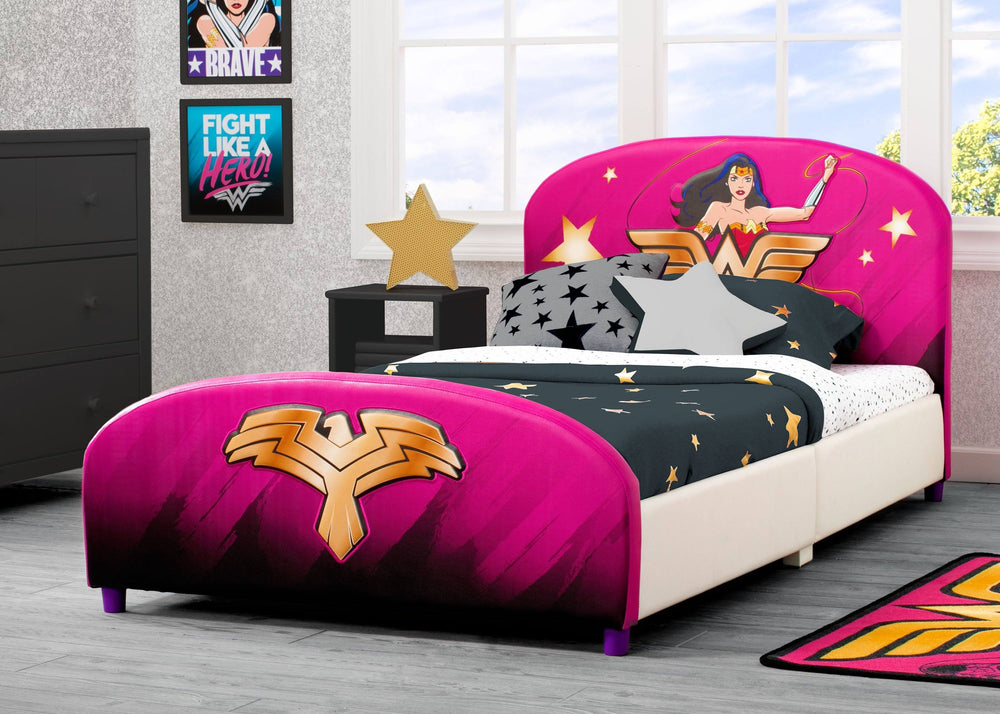 Wonder Woman Upholstered Twin Bed