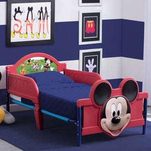 Delta Children Mickey Mouse 3D Footboard Toddler Bed, Room view, a0a