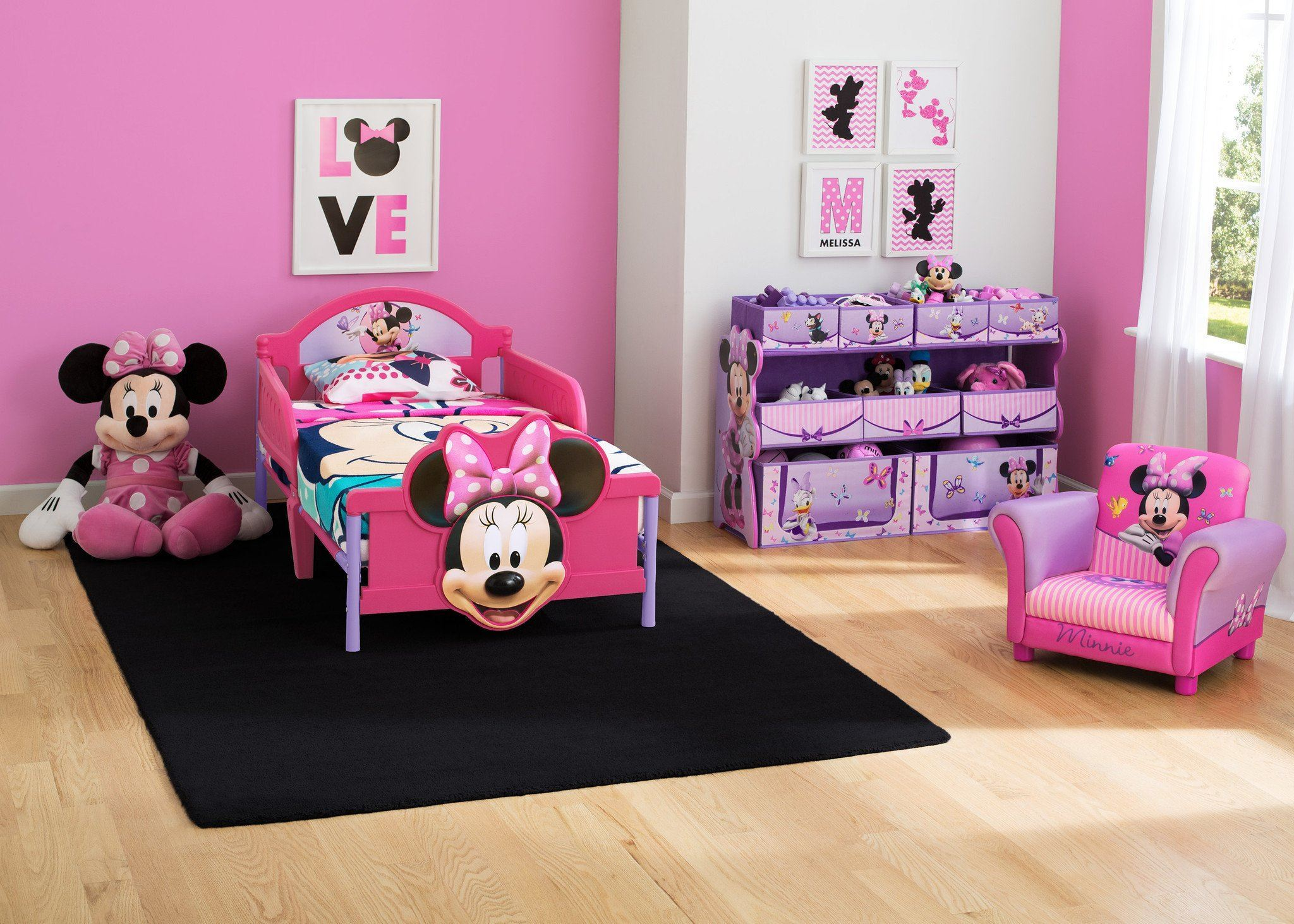 Charmant ... Delta Children Minnie Mouse 3D Footboard Toddler Bed Room View A1a