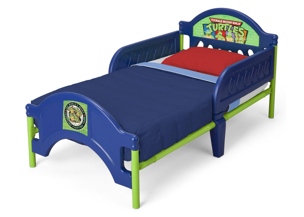 Delta Children Teenage Mutant Ninja Turtles Toddler Bed Left Side View a3a
