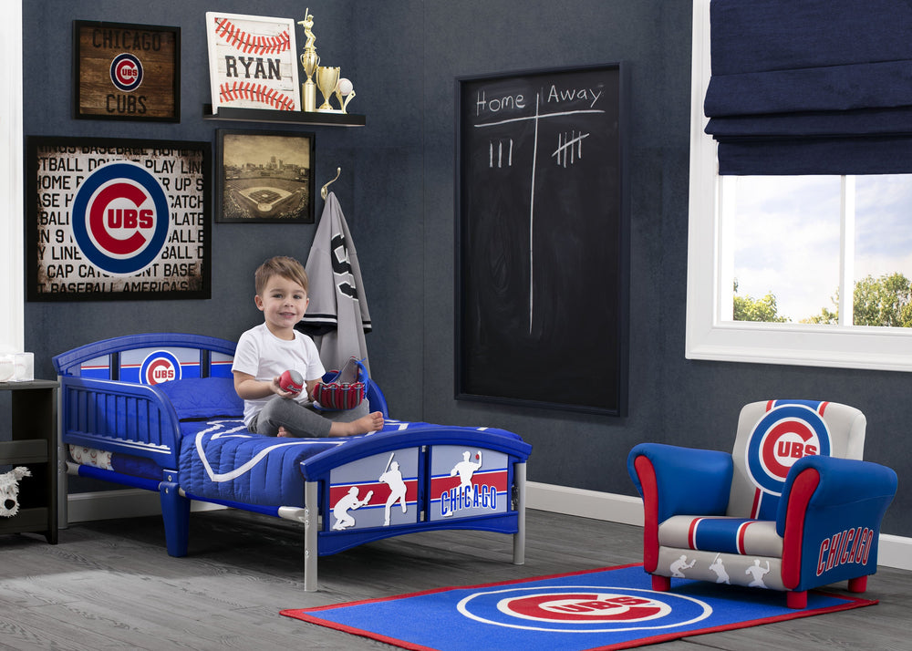 Delta Children Chicago Cubs Plastic Toddler Bed Room Shot a0a