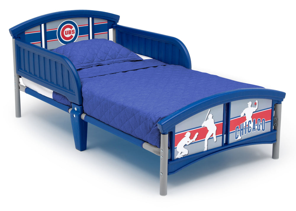 Delta Children Chicago Cubs Plastic Toddler Bed Right Side View a1a