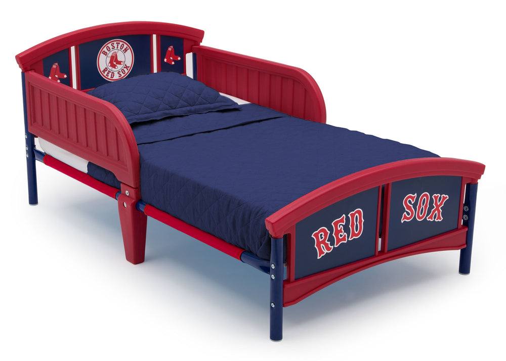 Delta Children Boston Red Sox Plastic Toddler Bed Right Side View a1a