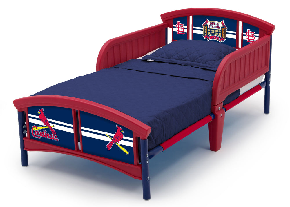 Delta Children St. Louis Cardinals Toddler Bed Left Side View a3a