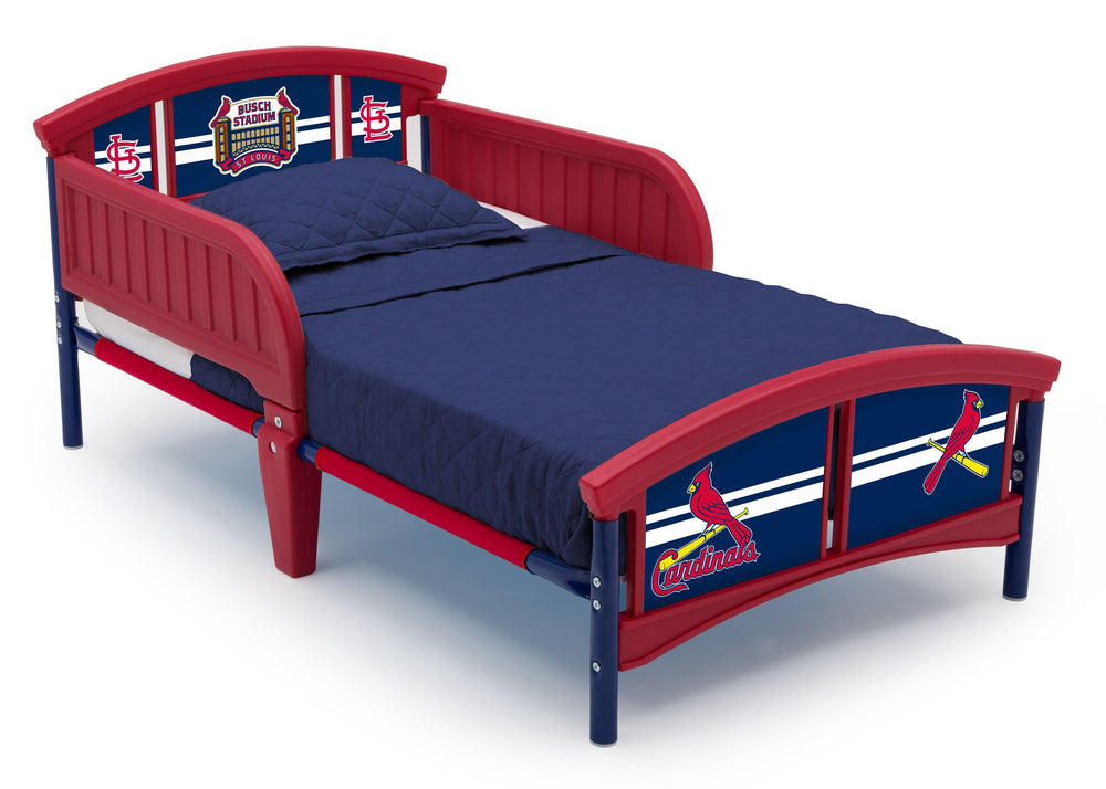 Delta Children St. Louis Cardinals Toddler Bed Right Side View a2a