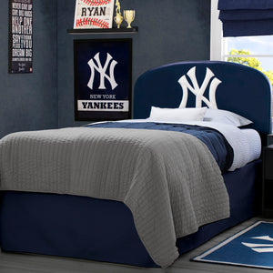 Yankees Upholstered Twin Headboard