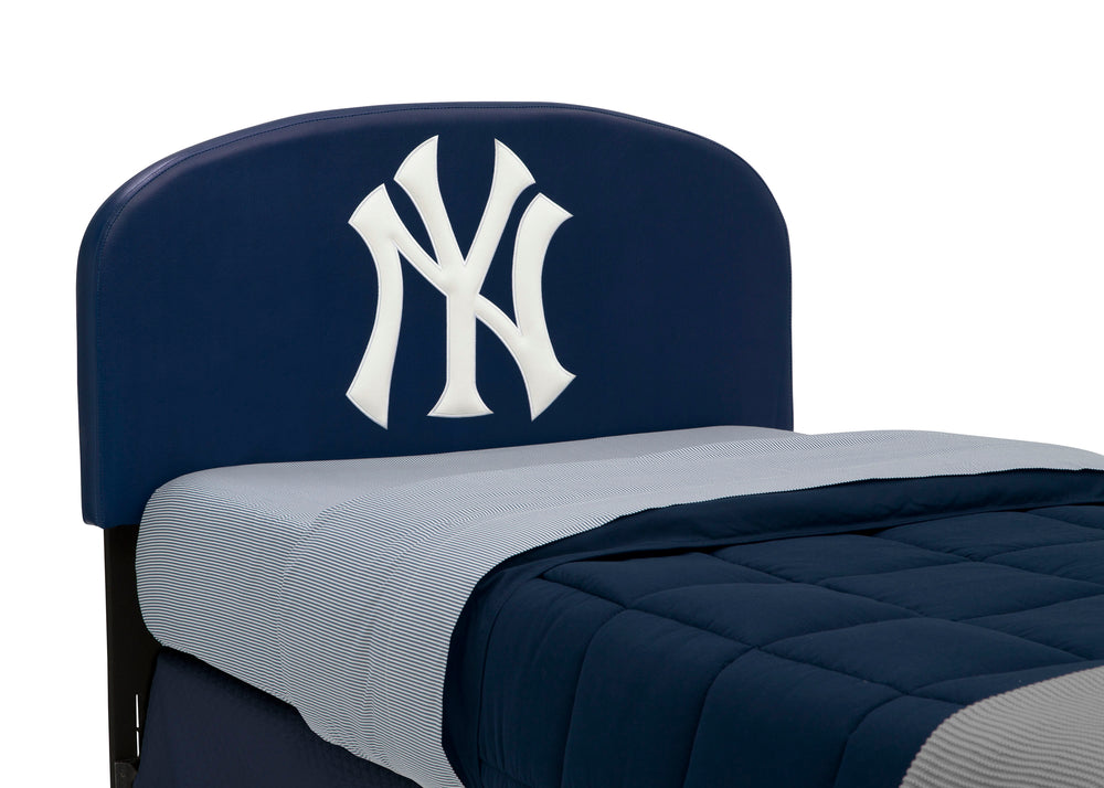 Delta Children Yankees (1230) Upholstered Twin Headboard (BB9813NYY), Headboard Detailing a2a