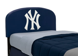 Delta Children New York Yankees (1230) Upholstered Twin Headboard, Headboard Closeup View