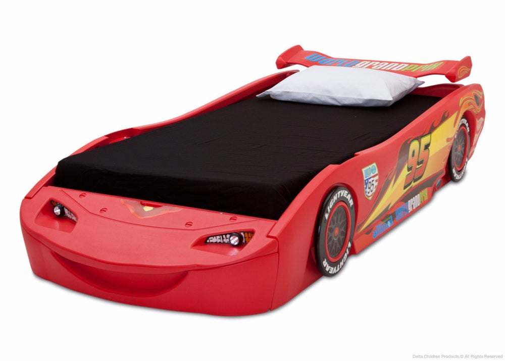 Delta Children Cars Twin Bed Left Side View 2 a3a