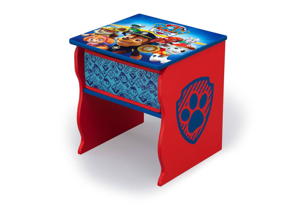 Delta Children PAW Patrol (1121) Side Table with Storage, Left Angle, a2a