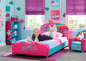 Delta Children JoJo Siwa Upholstered Twin Bed Jojo Siwa (1126), Room View