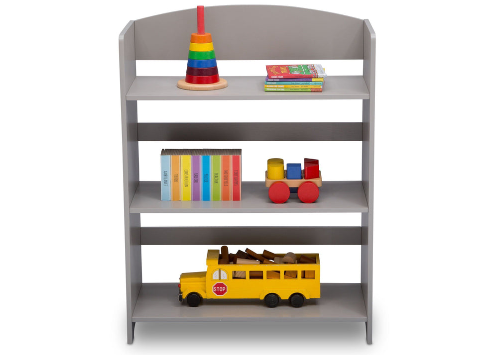 Delta Children Grey (026) MySize Bookshelf, Front Detail, a5a