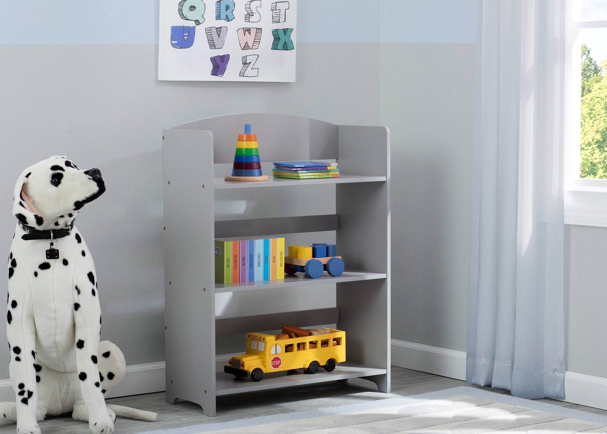 Delta Children Grey (026) MySize Bookshelf, Room, a1a