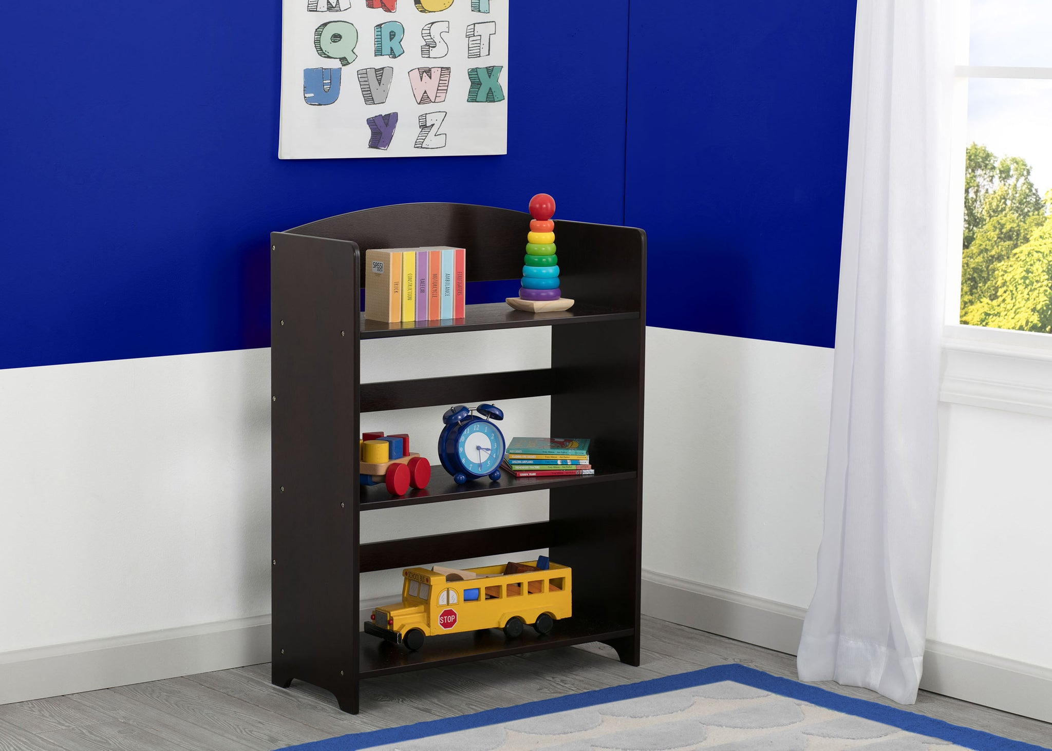 Delta Children Dark Chocolate (207) MySize Bookshelf, Room, c1c
