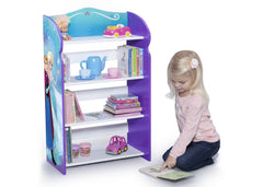 Delta Children Frozen Bookshelf, Right View with Props and Model a4a