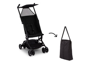 Delta Children Ultimate Fold N Go Compact Travel Stroller Black (001), Stored View a9a