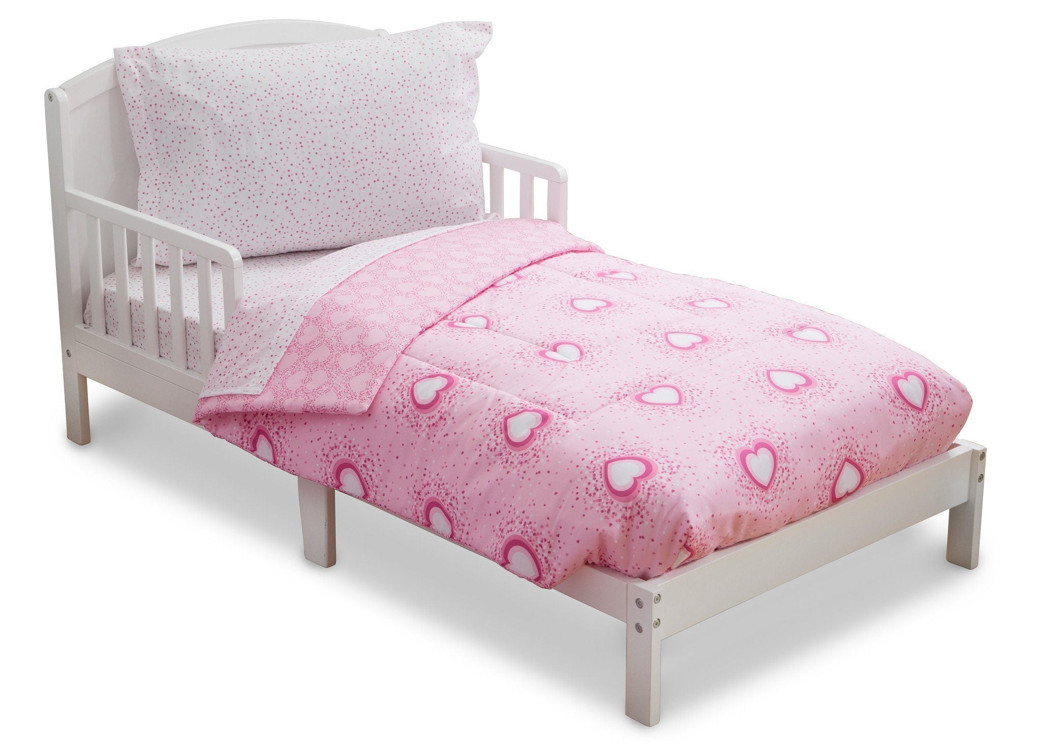Girl 4-Piece Toddler Bedding Set, Hearts & Sprinkles (2002) b3b