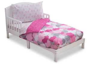 Girl 4-Piece Toddler Bedding Set, Pink Clouds (2003) c3c