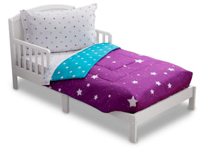 Girls Soft Kids Area Rug, Purple Starry Night (2005) e3e