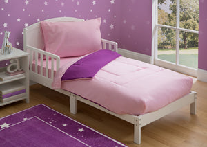 Girls Soft Kids Area Rug, Pink/Purple Gingham (2006) f1f