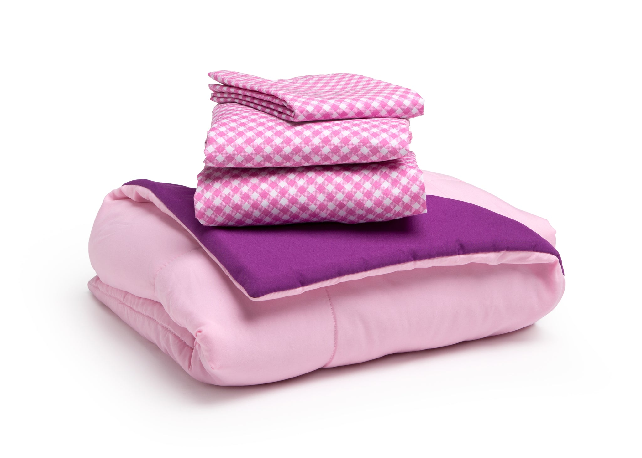 Girls Soft Kids Area Rug, Pink/Purple Gingham (2006) f4f