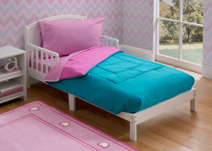 Girls Soft Kids Area Rug, Pink/Blue Gingham (2007) g1g