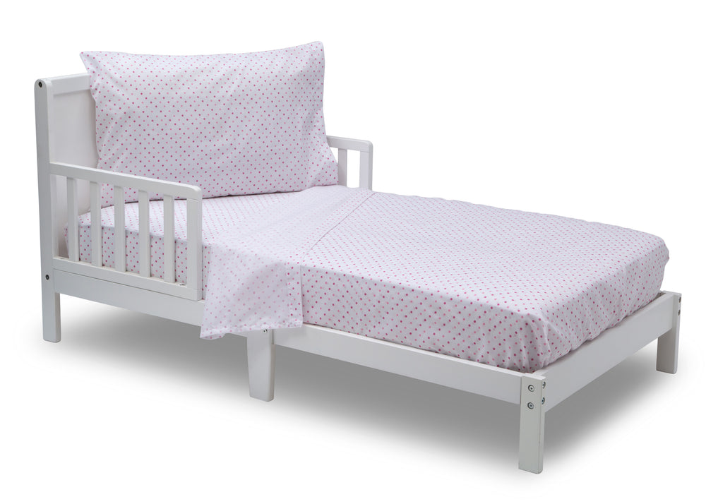 Girls 3-Piece Toddler Sheet Set, Pink Polka Dots (2000) b3b