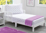 Girls 3-Piece Toddler Sheet Set, Purple Stars (2005) a1a