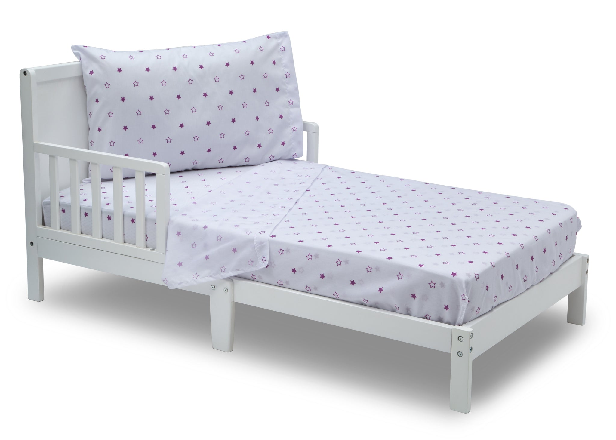 Girls 3-Piece Toddler Sheet Set, Purple Stars (2005) a3a