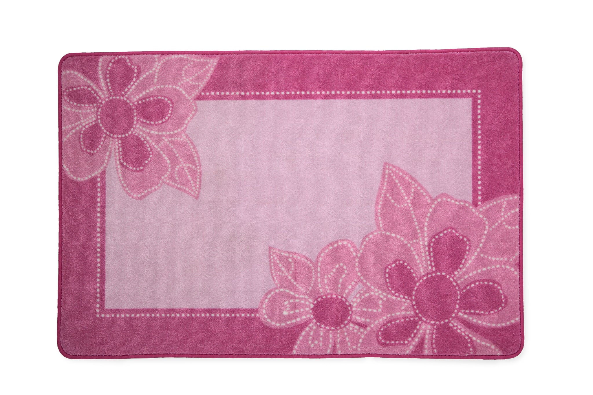 Girls Soft Kids Area Rug, Floral Pinks (2000) b3b