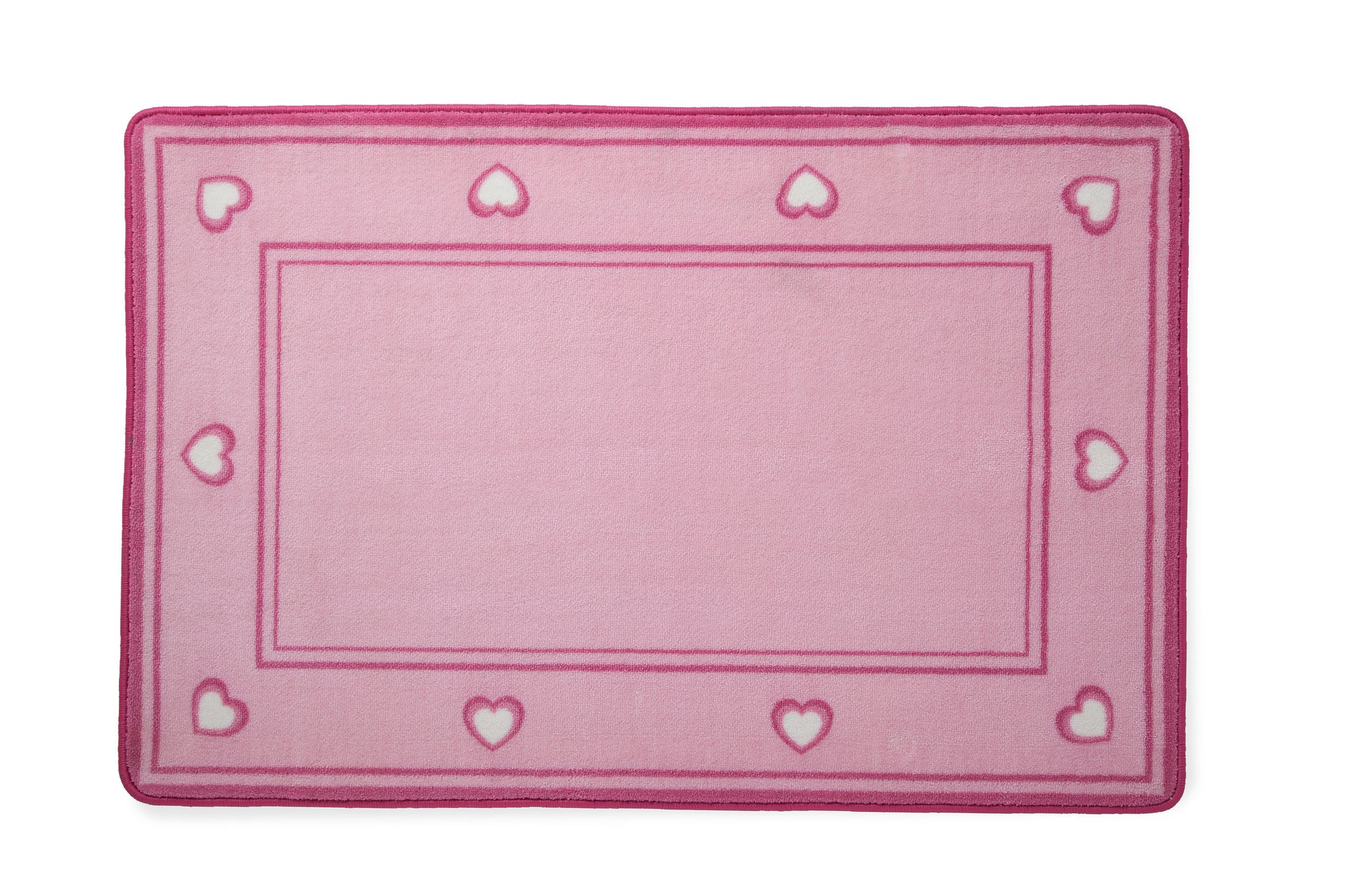 Girls Soft Kids Area Rug, Pink Hearts (2002) a2a