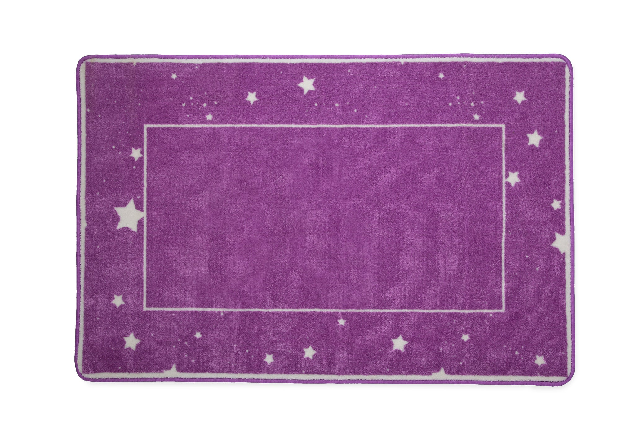Girls Soft Kids Area Rug, Purple Stars (2005) d2d