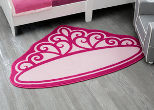 Delta Children Princess (3005) Non-Slip Area Rug for Boys, Hangtag View