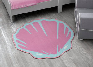 Delta Children Seashell (3013) Non-Slip Area Rug for Boys, Hangtag View