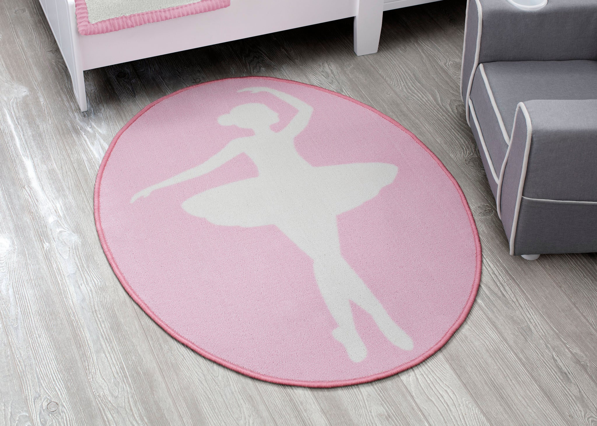 Delta Children Ballerina (3007) Non-Slip Area Rug for Boys, Hangtag View