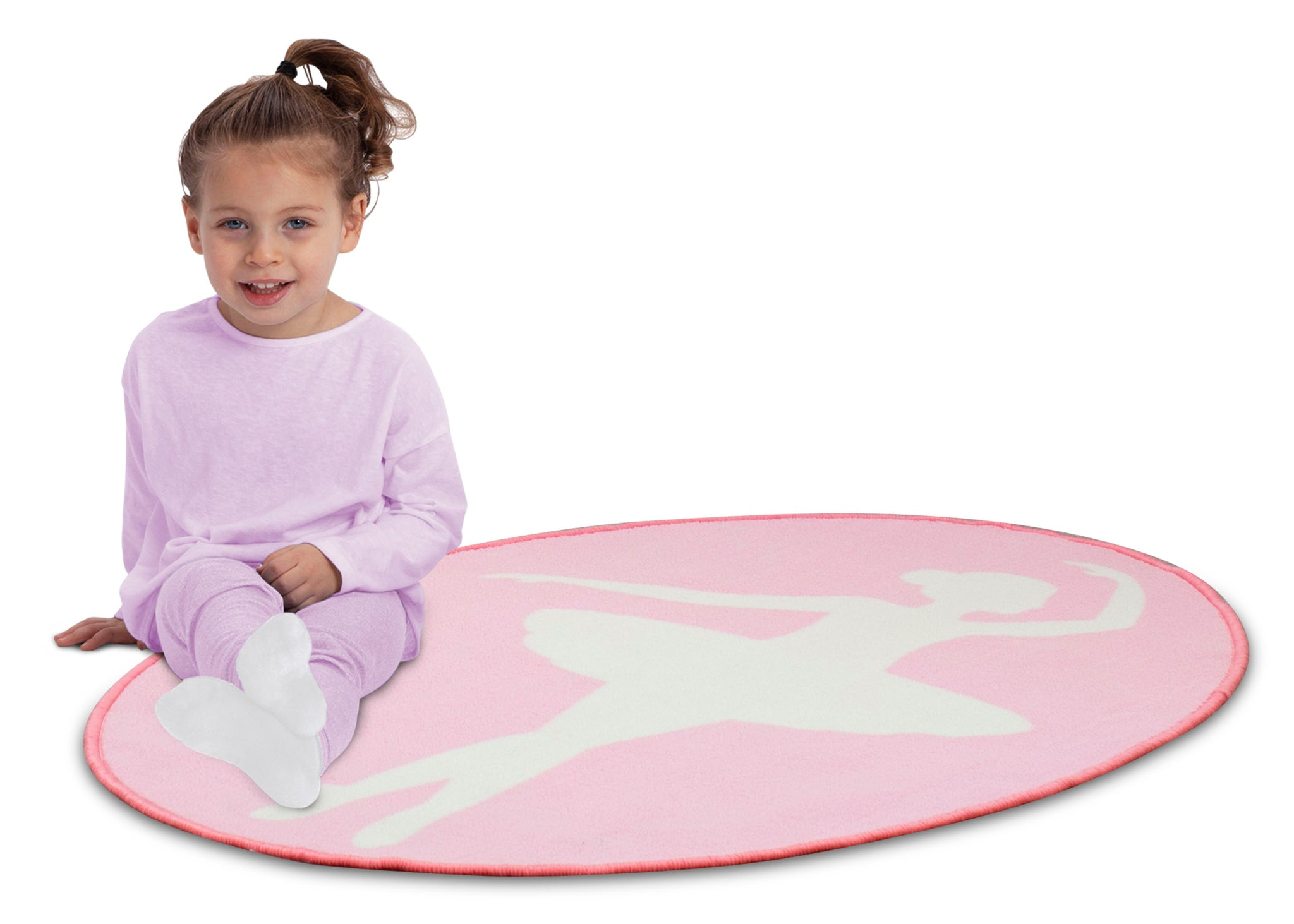 Delta Children Ballerina (3007) Non-Slip Area Rug for Boys, Model View