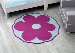 Delta Children Flower (3009) Non-Slip Area Rug for Boys, Hangtag View