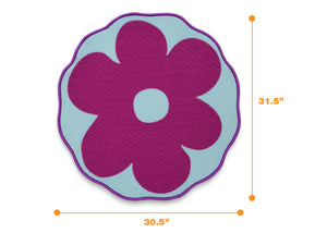 Delta Children Flower (3009) Non-Slip Area Rug for Boys, Measured View