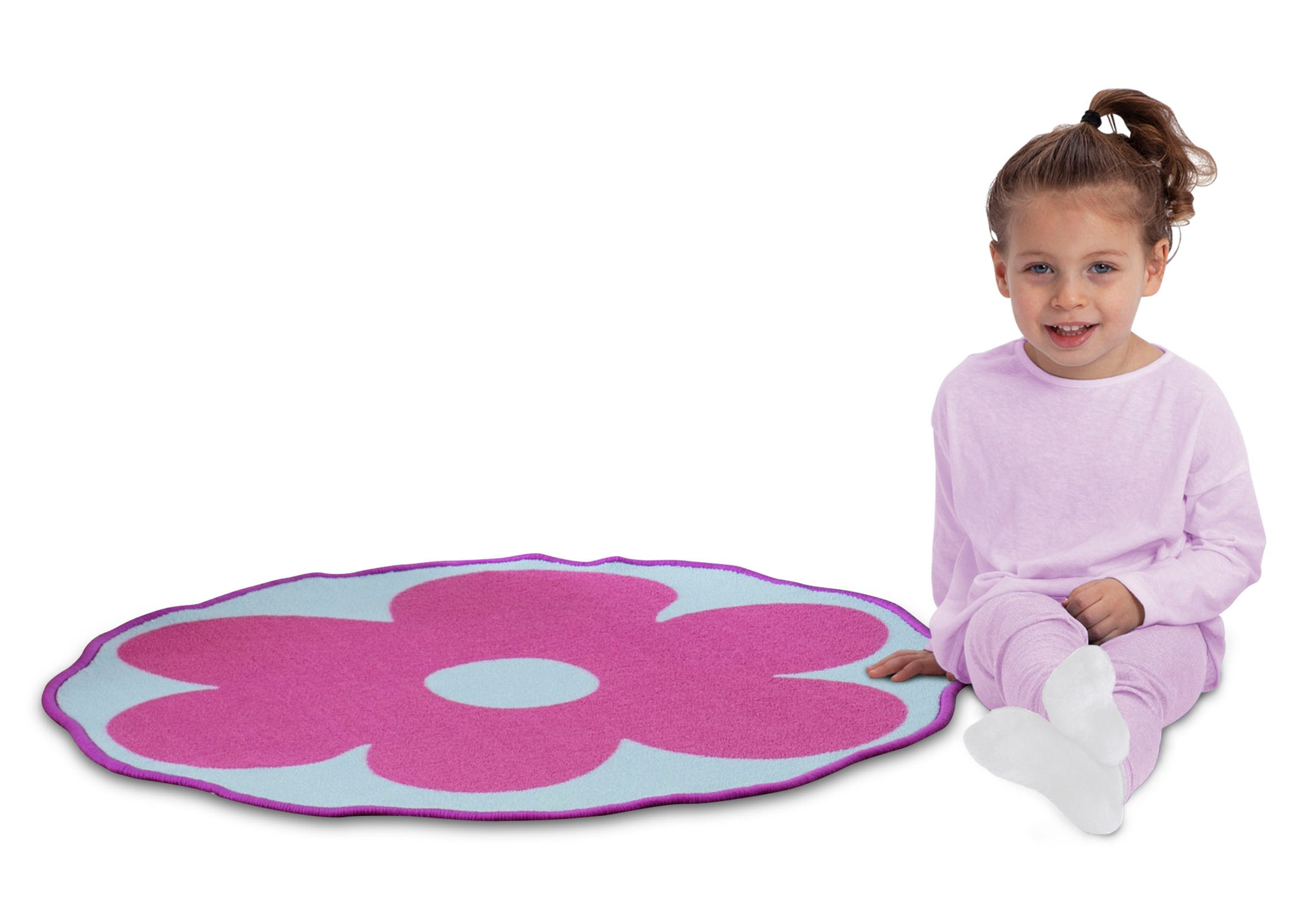 Delta Children Flower (3009) Non-Slip Area Rug for Boys, Model View