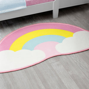 Delta Children Rainbow (3010) Non-Slip Area Rug for Boys, Hangtag View