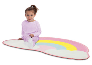 Delta Children Rainbow (3010) Non-Slip Area Rug for Boys, Model View