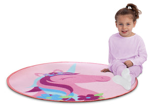 Delta Children Unicorn (3011) Non-Slip Area Rug for Boys, Model View