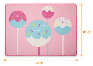 Delta Children Cake Pops (3012) Non-Slip Area Rug for Boys, Measured View