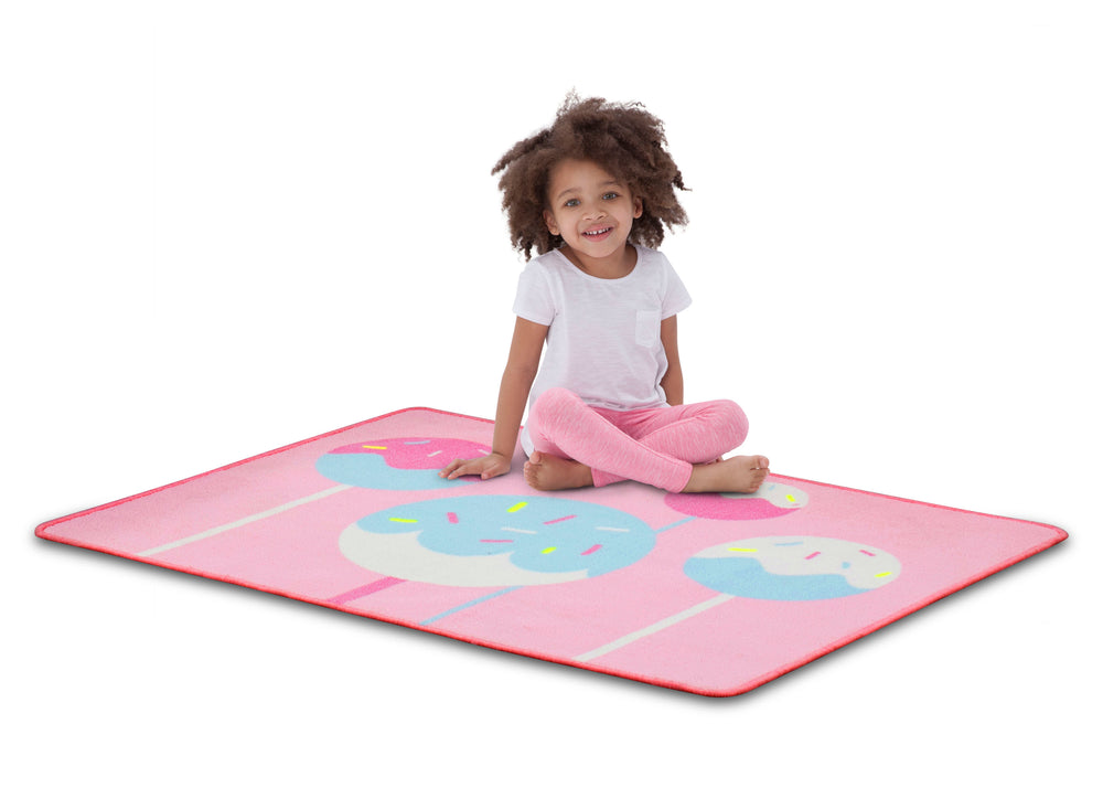 Delta Children Cake Pops (3012) Non-Slip Area Rug for Boys, Model View